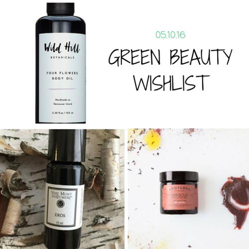 Green Beauty Wishlist